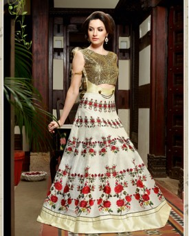 Amazing Designer Digital Grey Printed Anarkali
