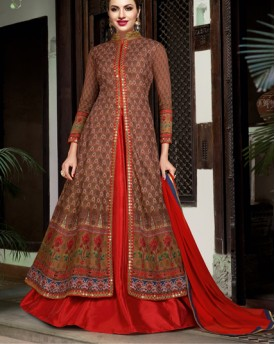 Amazing Designer Earthy Color Anarkali