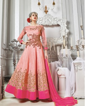Anarkali Pitch Colour Heavy Work Gown