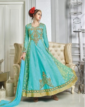 Anarkali Light Embroidery Work Gown