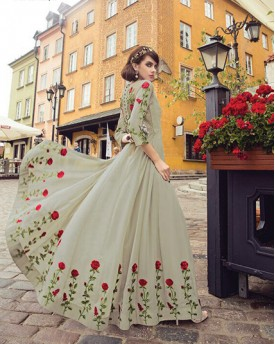 Colorful Amazing Imperial Gown style Anarkali