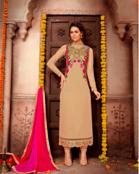 Designer Georgette Suit With Heavy Embroidery