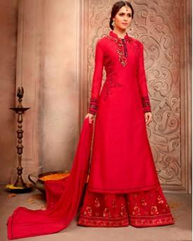 Designer  Bhagalpuri Silk With Fancy Embroidery Salwar