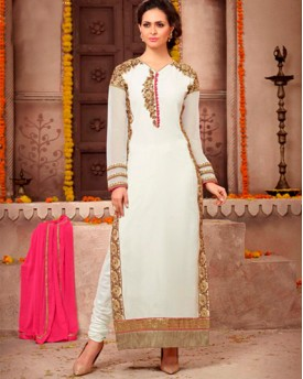Designer Georgette Suit With Embroidery Work Salwar