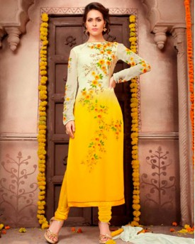 Designer  Georgette Shadding Suit With Heavy Embroidery