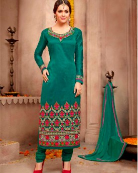 Designer Silk Fabrioc With Heavy Embroidery Salwar