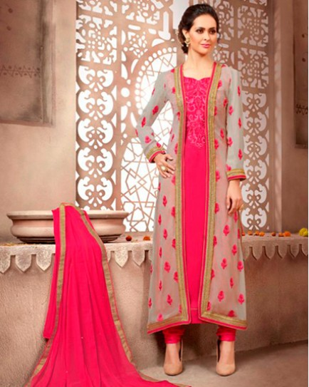 Designer Georgette Suit With Heavy Embroidery Salwar