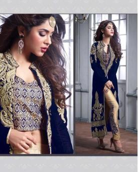 Designer Royal Blue Salwar And Kameez