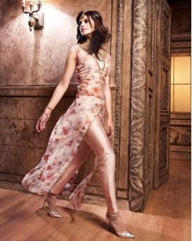 Designer Peach Salwar Kameez