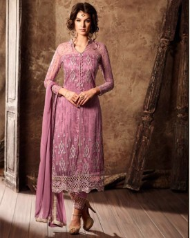 Amazing Salwar With Net Top and Satin Bottom