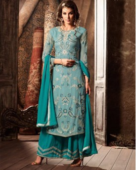 Amazing Salwar With Georgette Top and Bottom