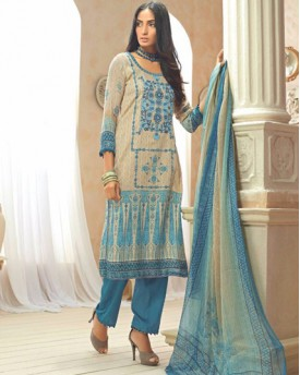 Amazing Cotton Silk Embroidery Salwar