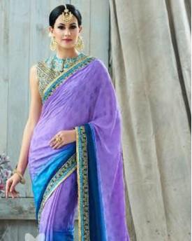 Amazing Purple Saree