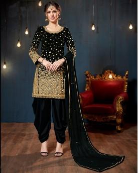 Black Mirror Work Salwar Suit